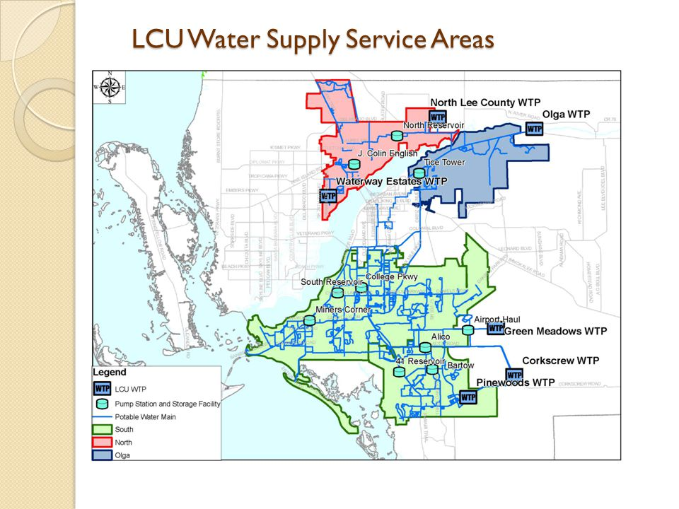 LCU Water Supply Service Areas