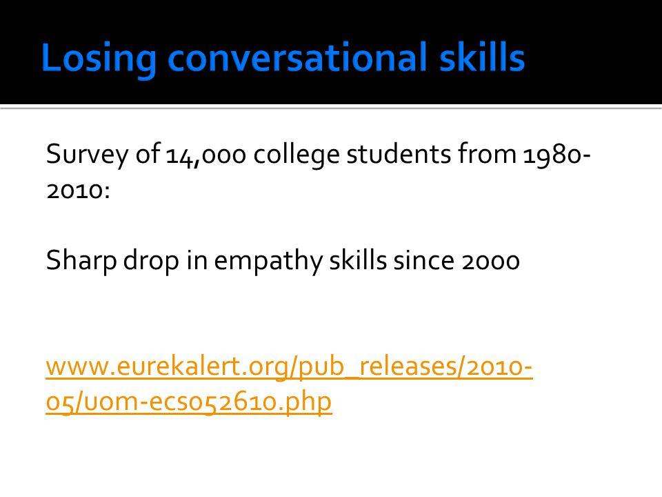 Losing conversational skills