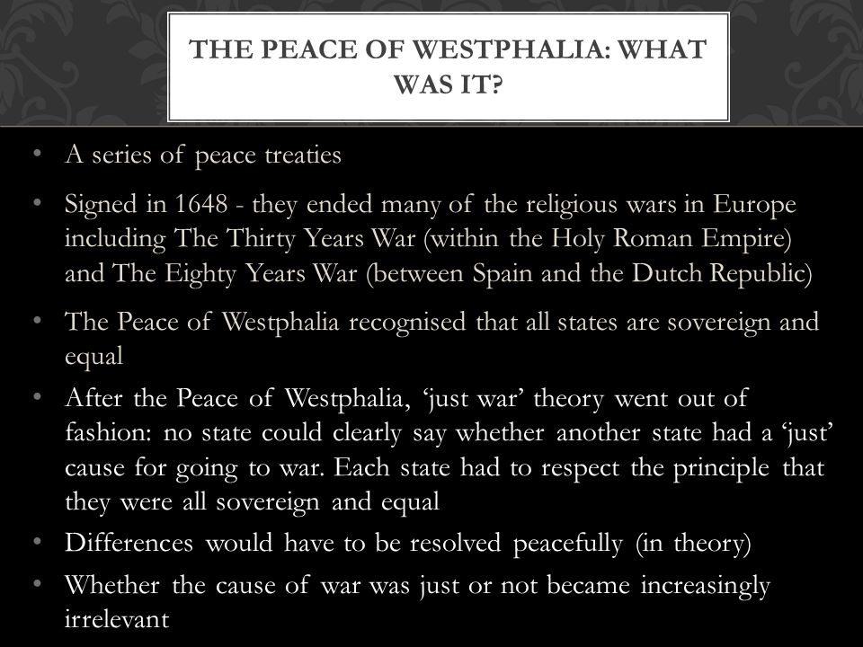 the Peace of Westphalia: what was it