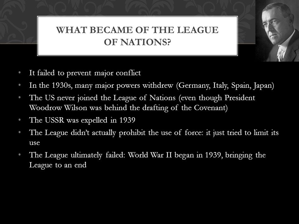 What became of the League of Nations