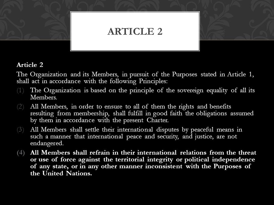 Article 2 Article 2.