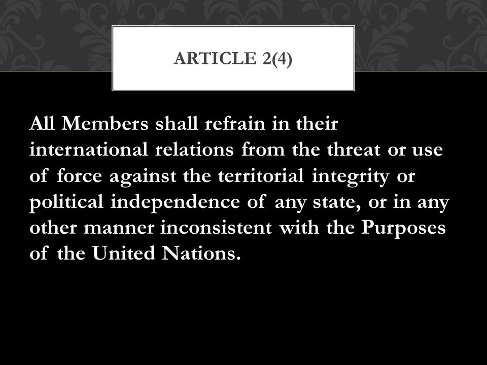 Article 2(4)