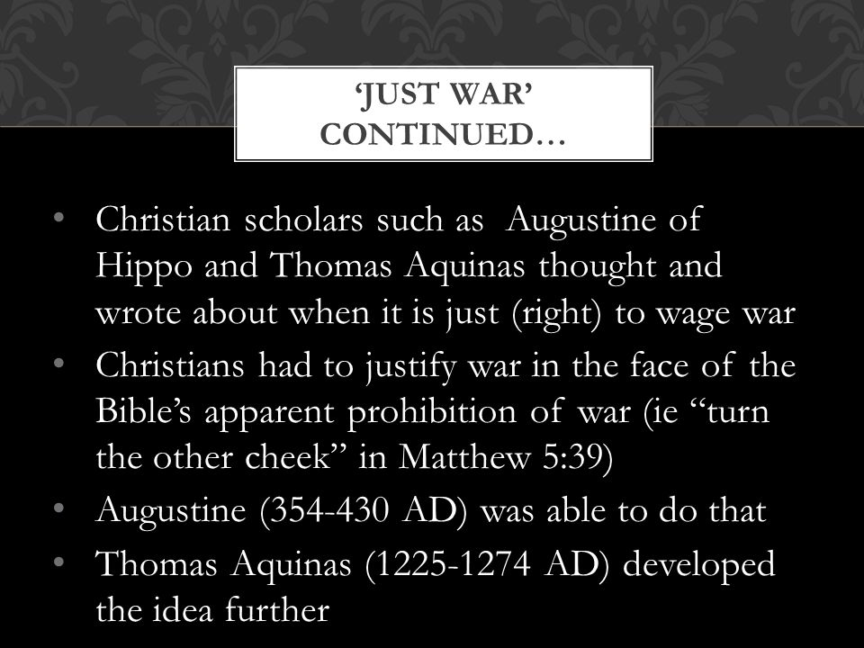 Augustine (354-430 AD) was able to do that