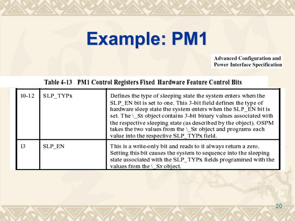 Example: PM1