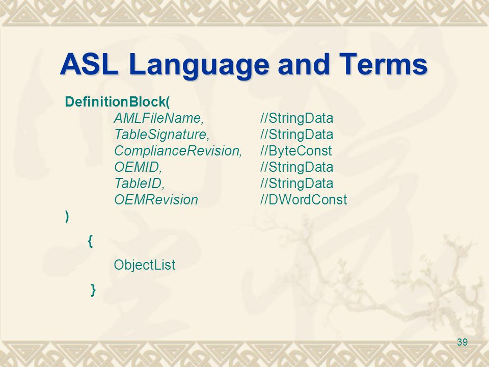 ASL Language and Terms