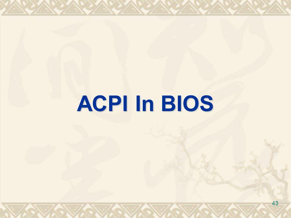 ACPI In BIOS