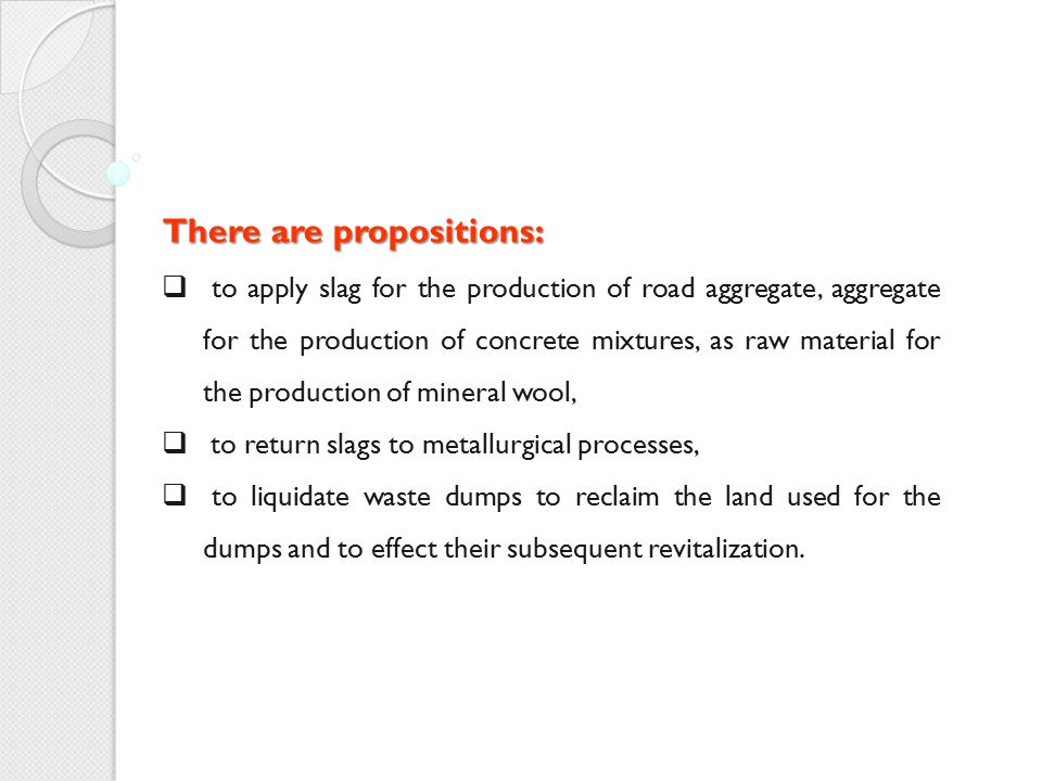 There are propositions: