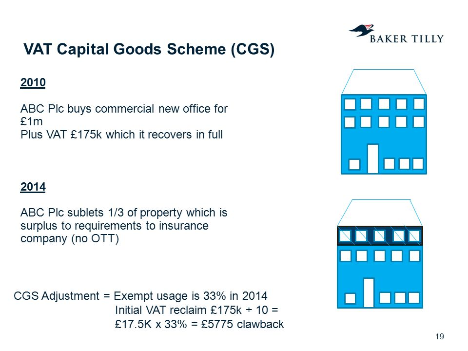 VAT Capital Goods Scheme (CGS)
