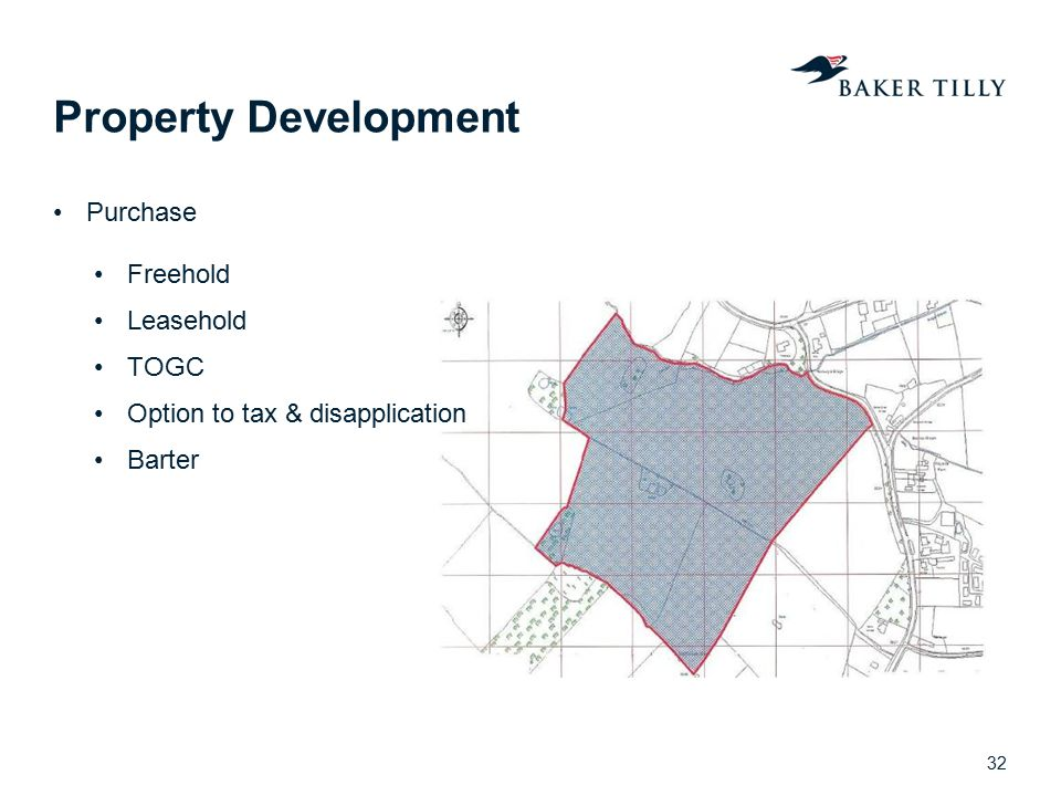 Property Development Purchase Freehold Leasehold TOGC