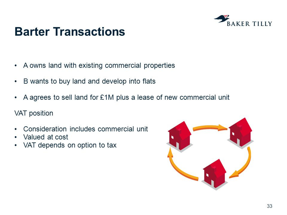 Barter Transactions A owns land with existing commercial properties
