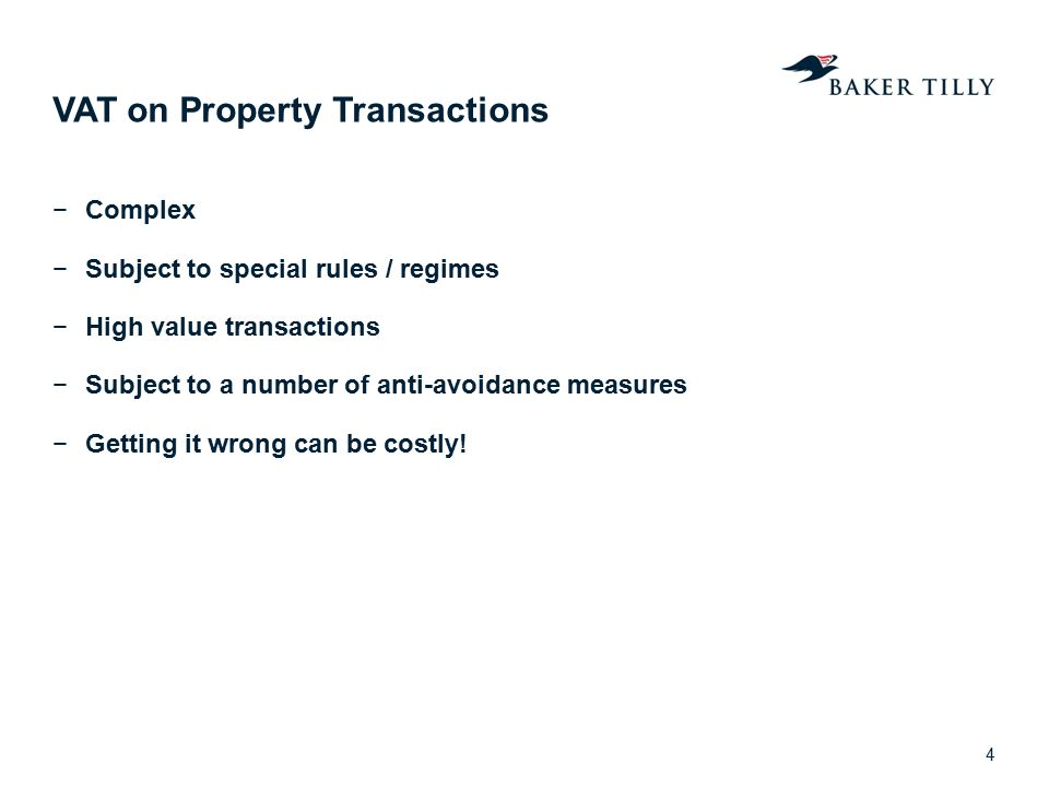 VAT on Property Transactions