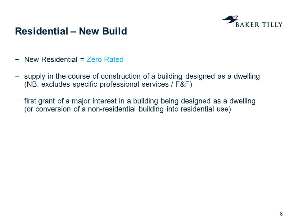 Residential – New Build