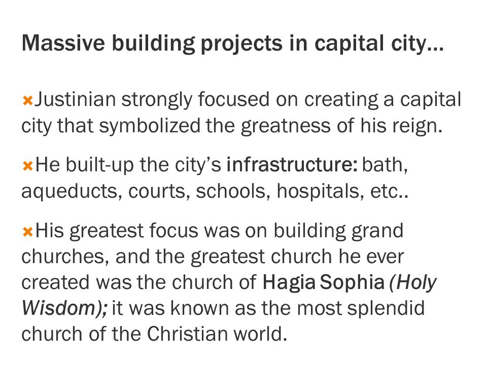 Massive building projects in capital city…