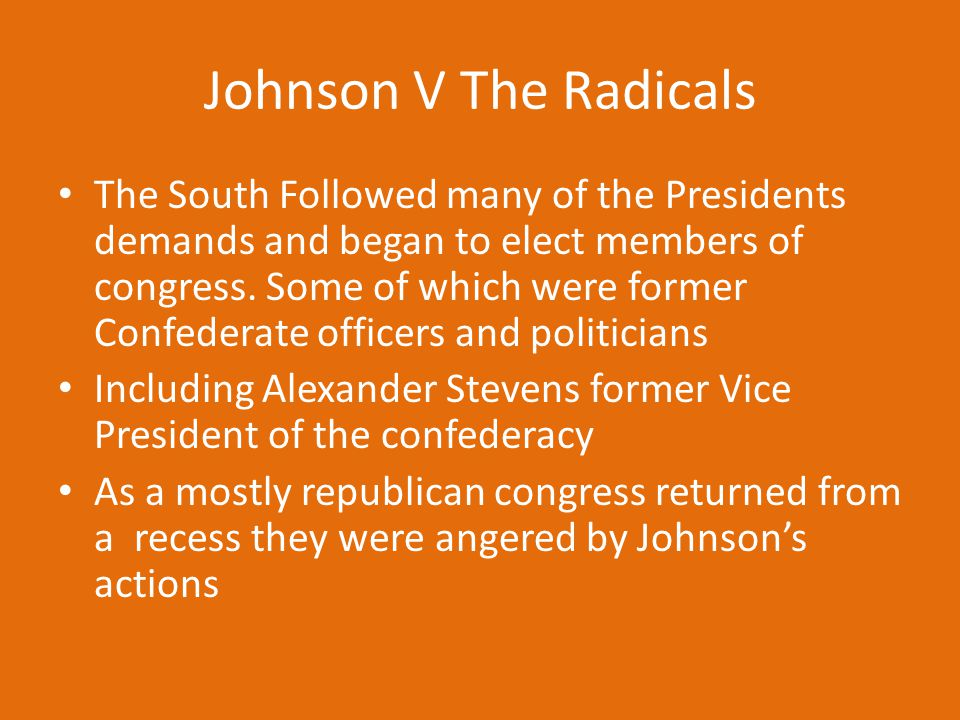 Johnson V The Radicals