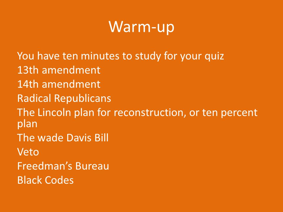 Warm-up