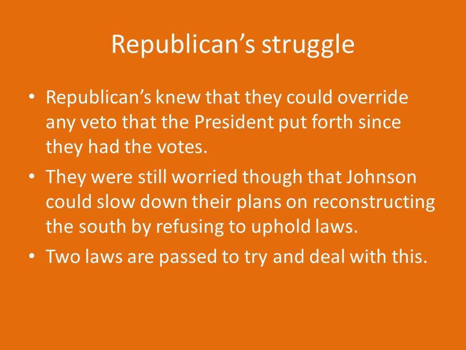 Republican's struggle