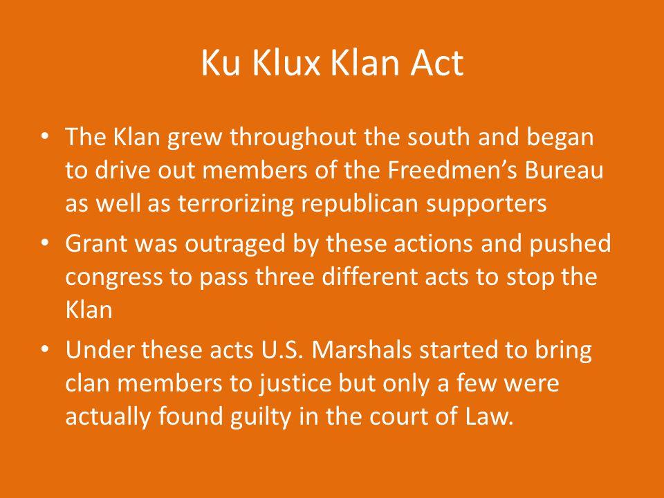 Ku Klux Klan Act