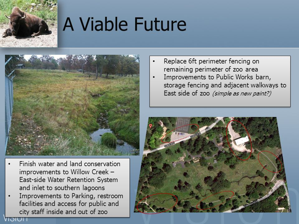 A Viable Future Replace 6ft perimeter fencing on remaining perimeter of zoo area.