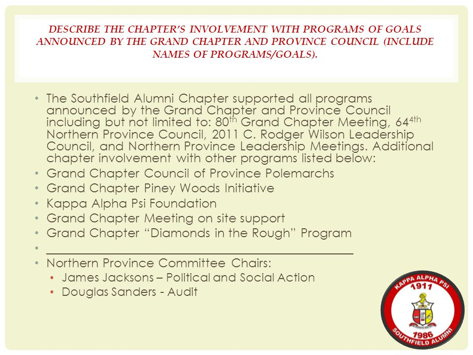 Grand Chapter Council of Province Polemarchs