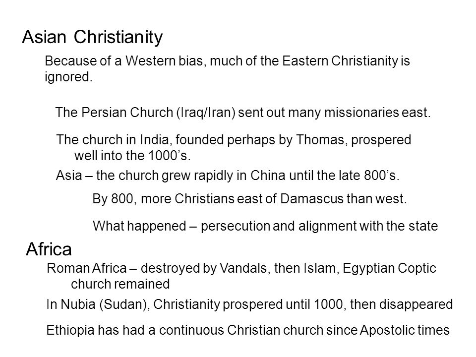 Asian Christianity Africa