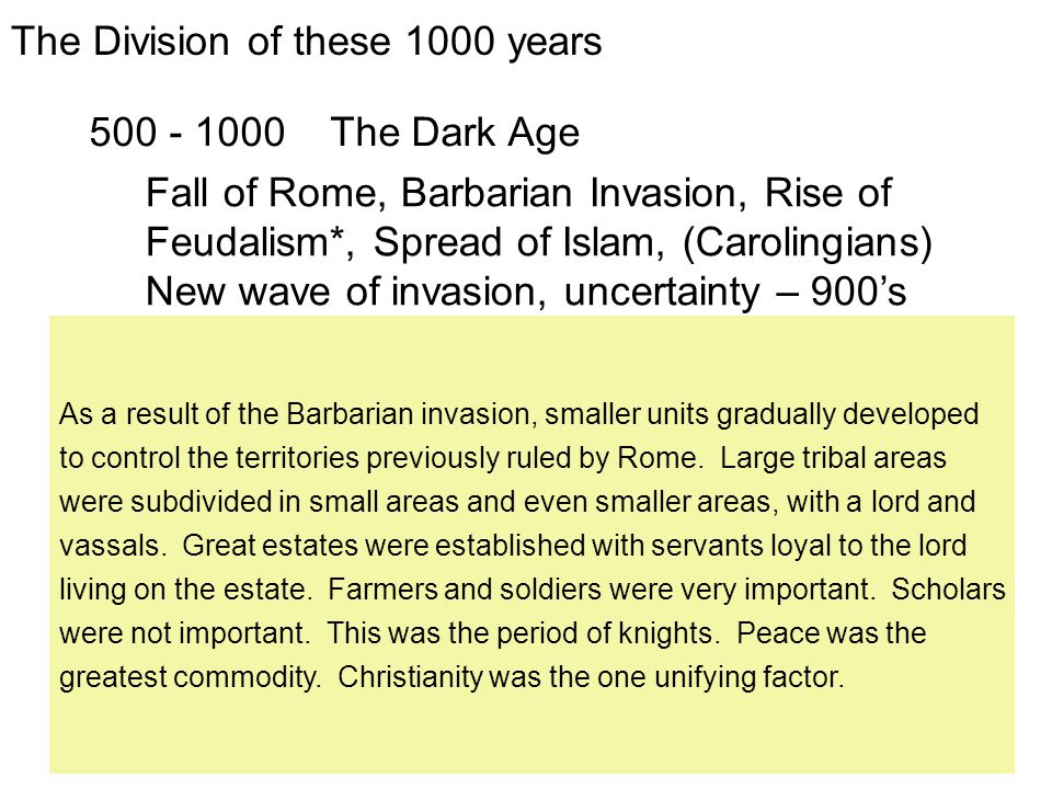 The Division of these 1000 years