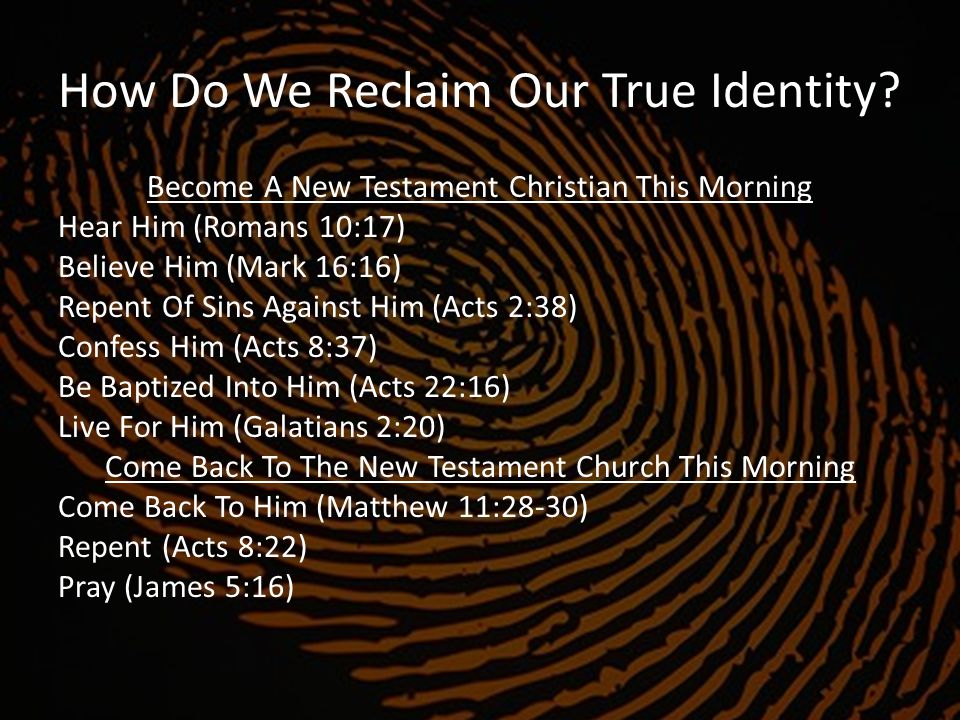 How Do We Reclaim Our True Identity