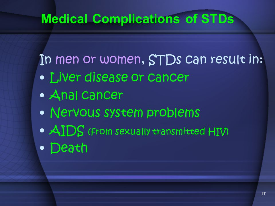 Medical Complications of STDs