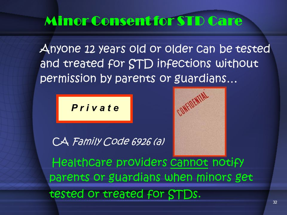 Minor Consent for STD Care