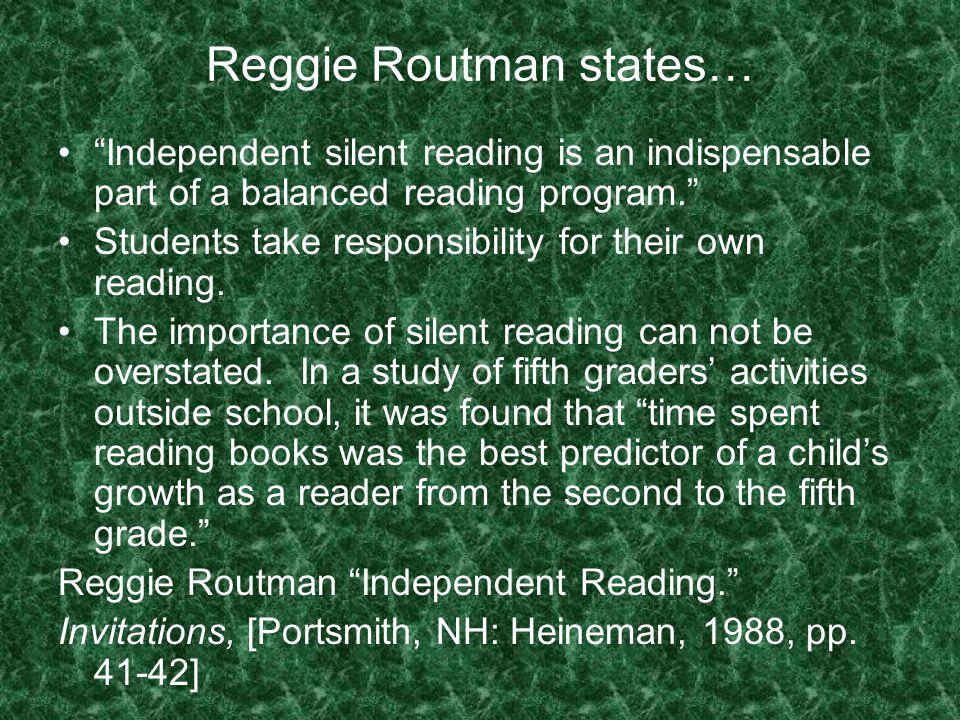 Reggie Routman states…
