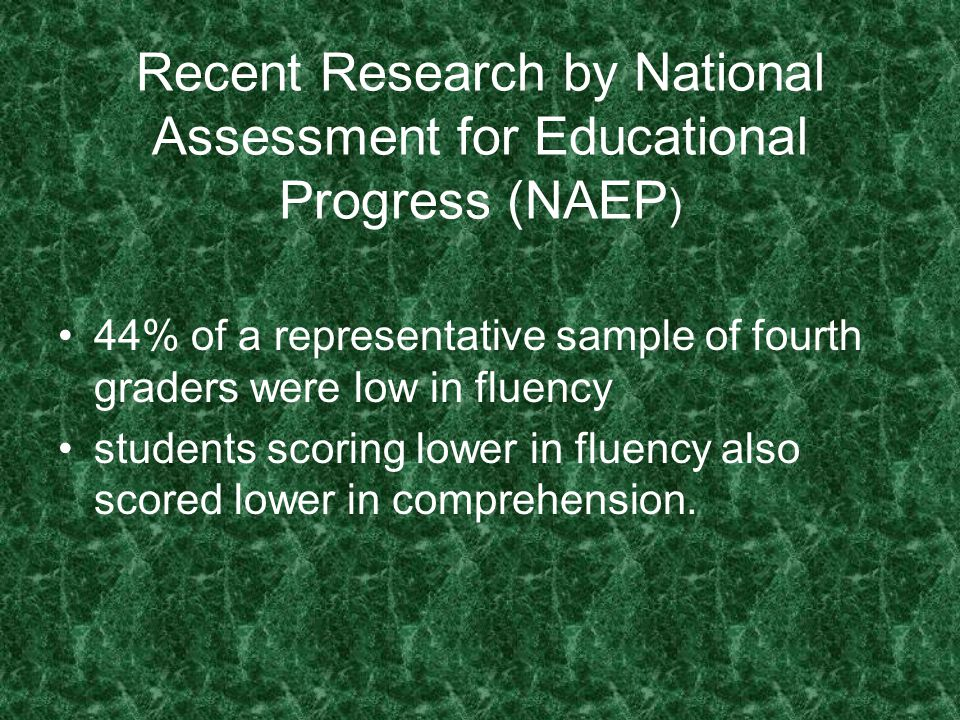 Recent Research by National Assessment for Educational Progress (NAEP)