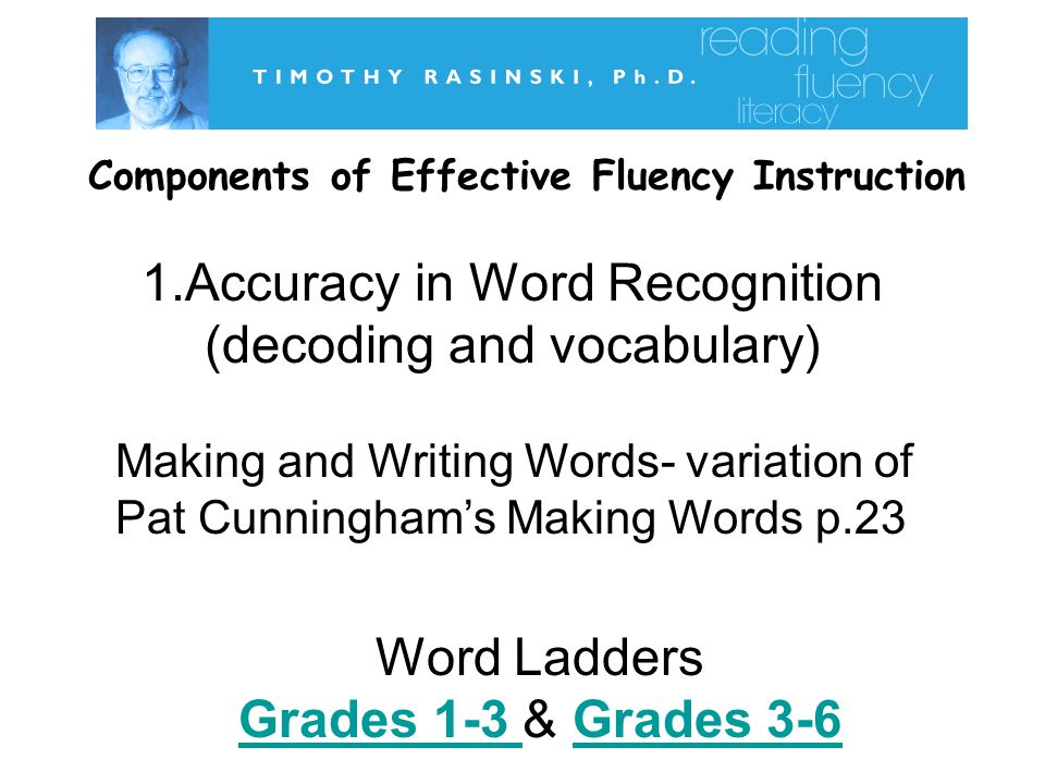 Components of Effective Fluency Instruction