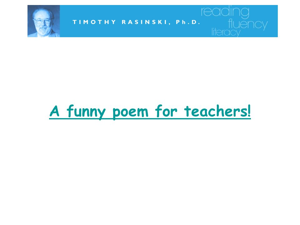 A funny poem for teachers!