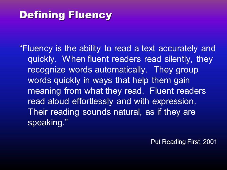 Defining Fluency
