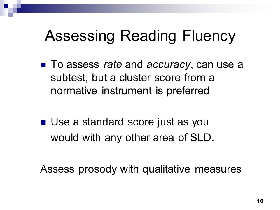 Assessing Reading Fluency