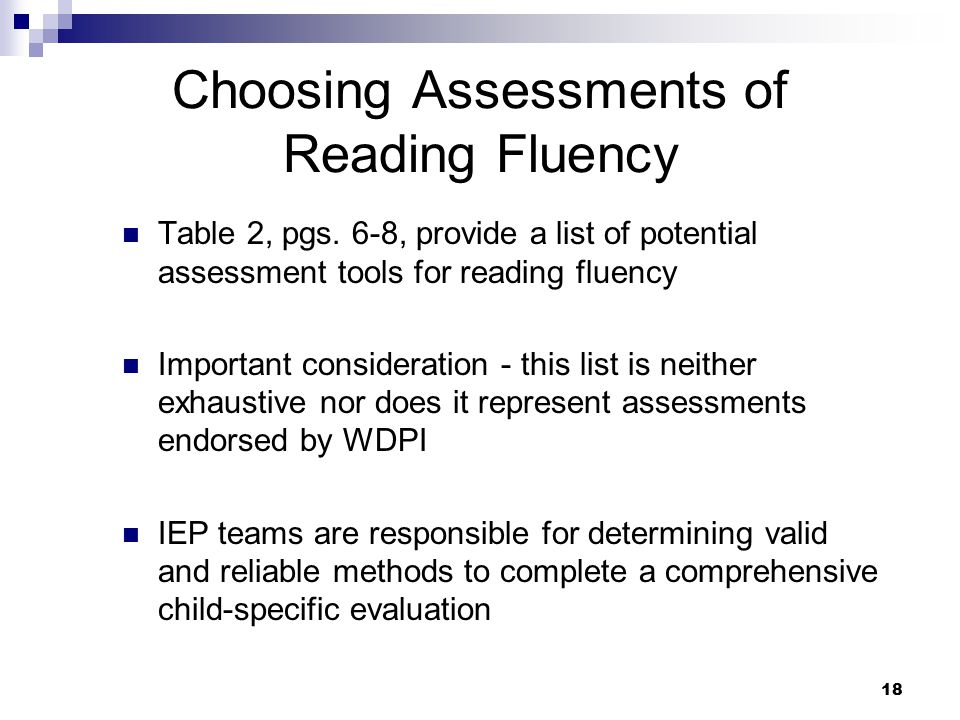 Choosing Assessments of Reading Fluency