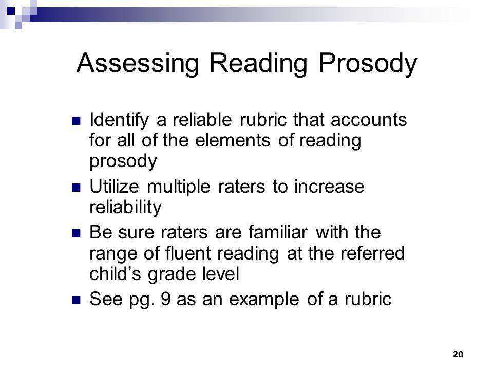 Assessing Reading Prosody