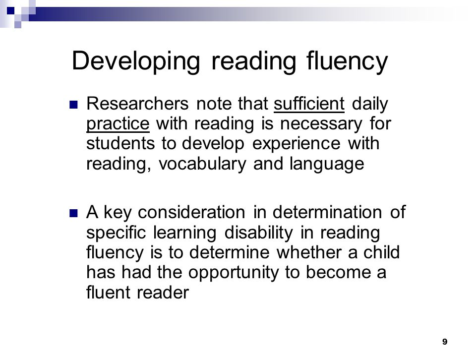 developing oral fluency Fluency resources these resources cover the basics of fluency, how to measure student success, and ways to improve each student's fluency skills.