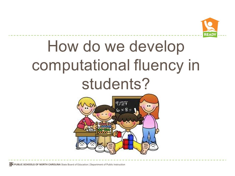 How do we develop computational fluency in students