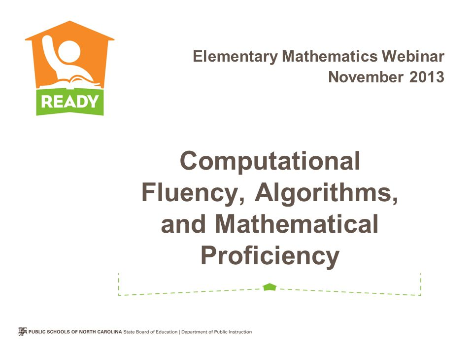 Computational Fluency, Algorithms, and Mathematical Proficiency
