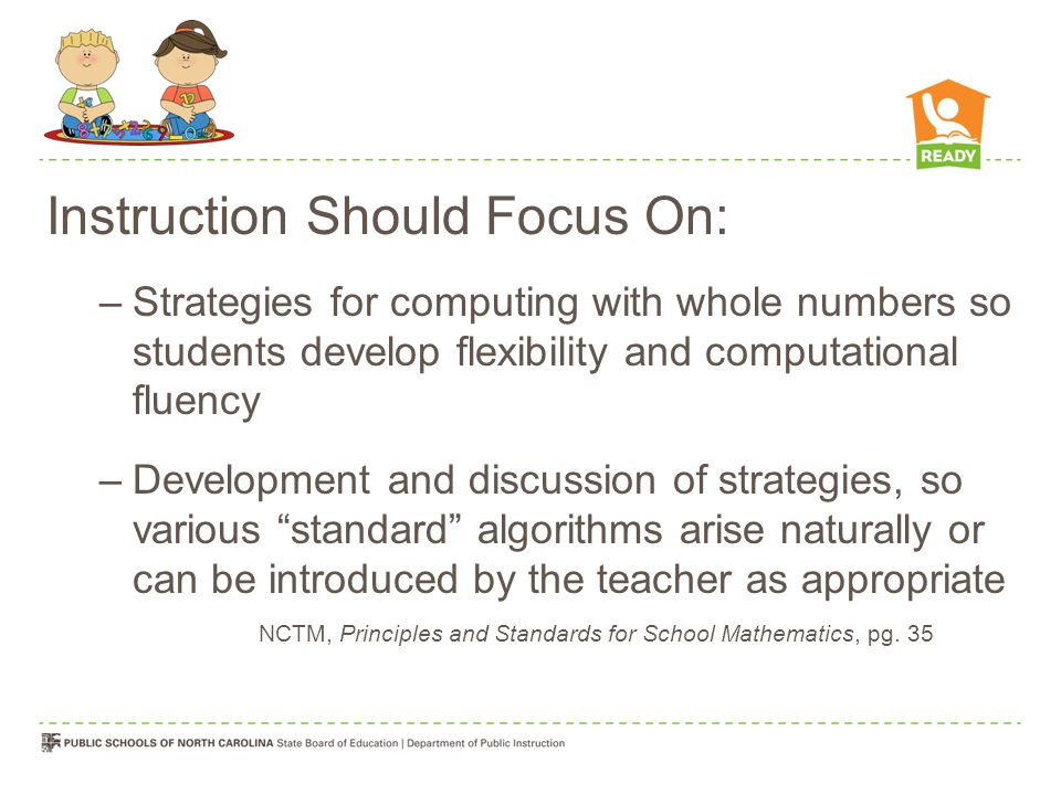 Instruction Should Focus On: