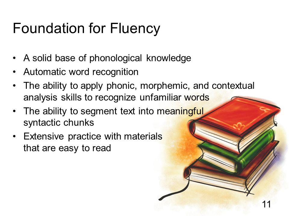 Foundation for Fluency