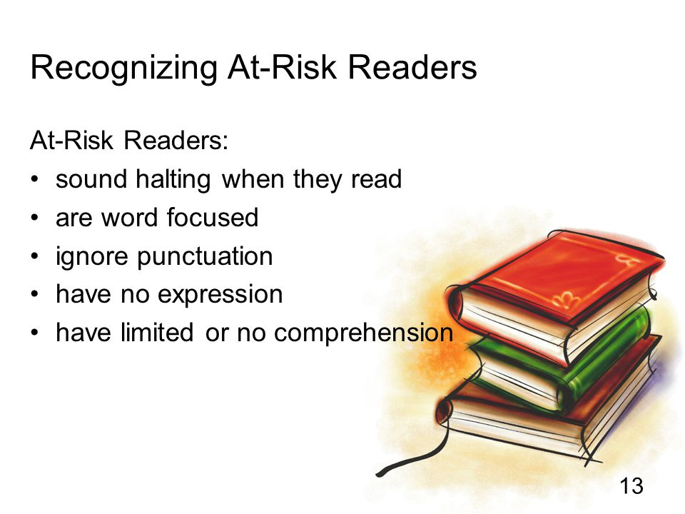 Recognizing At-Risk Readers