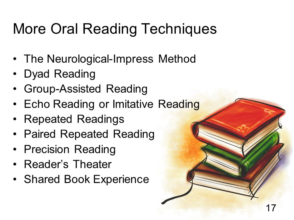 More Oral Reading Techniques