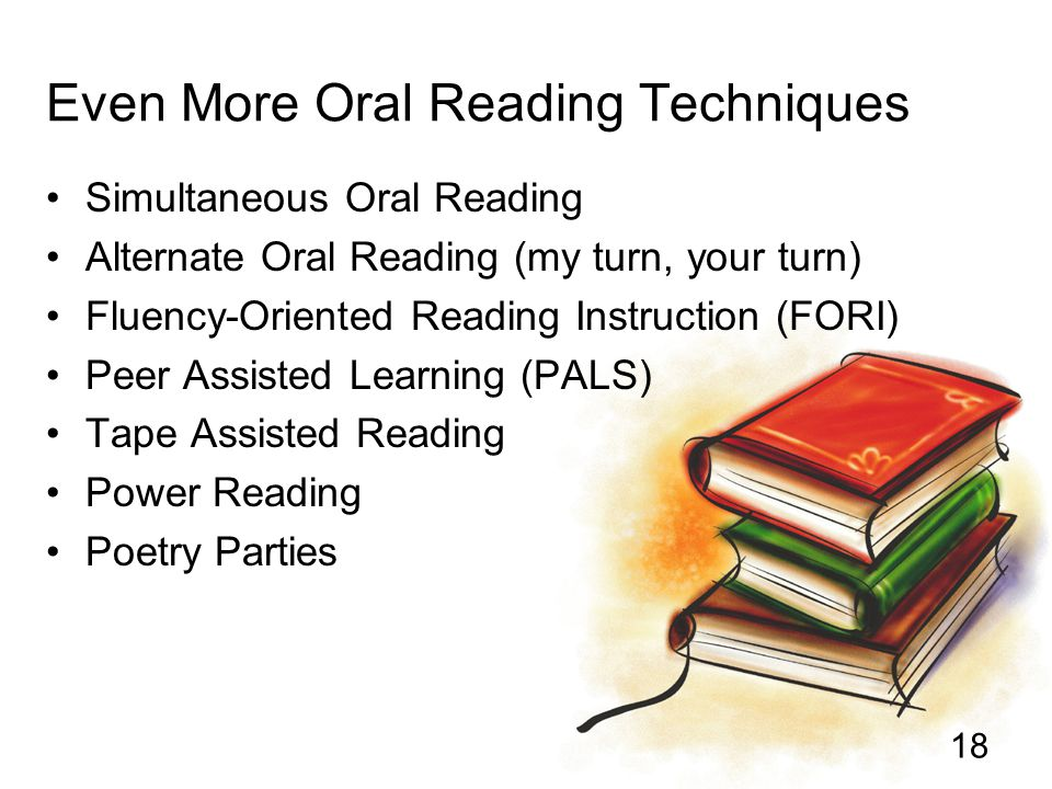 Even More Oral Reading Techniques