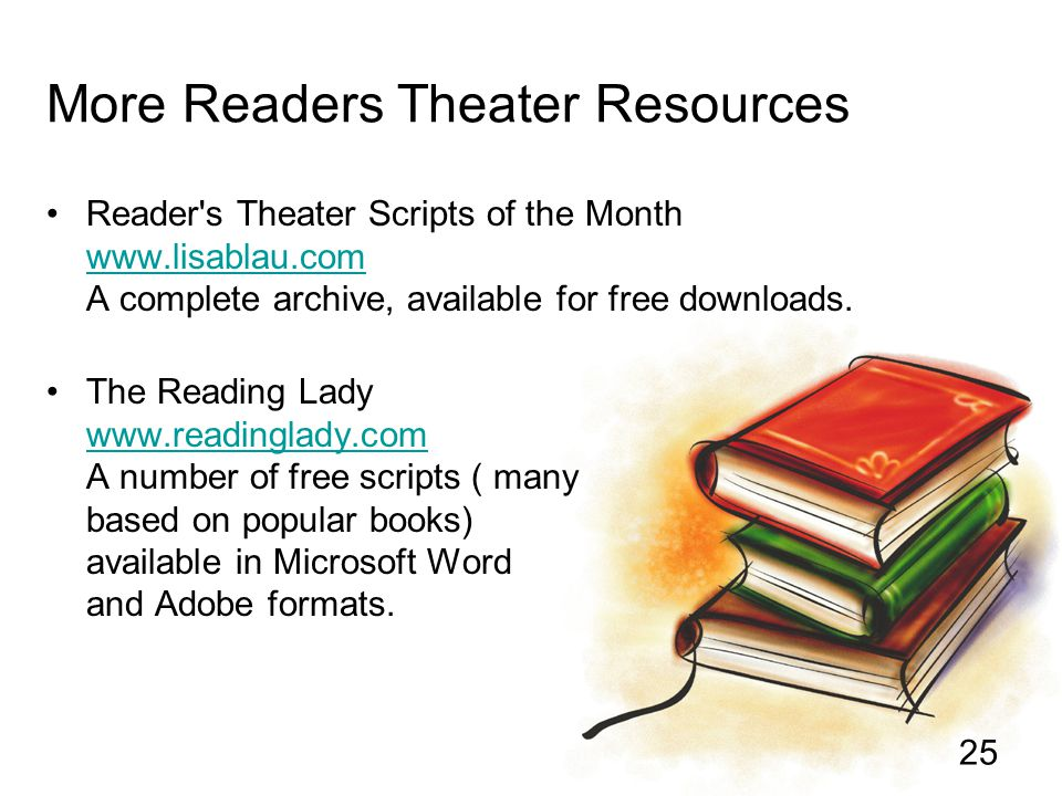 More Readers Theater Resources