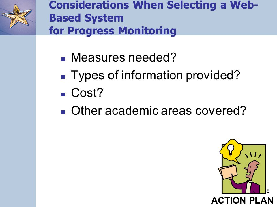 Types of information provided Cost Other academic areas covered