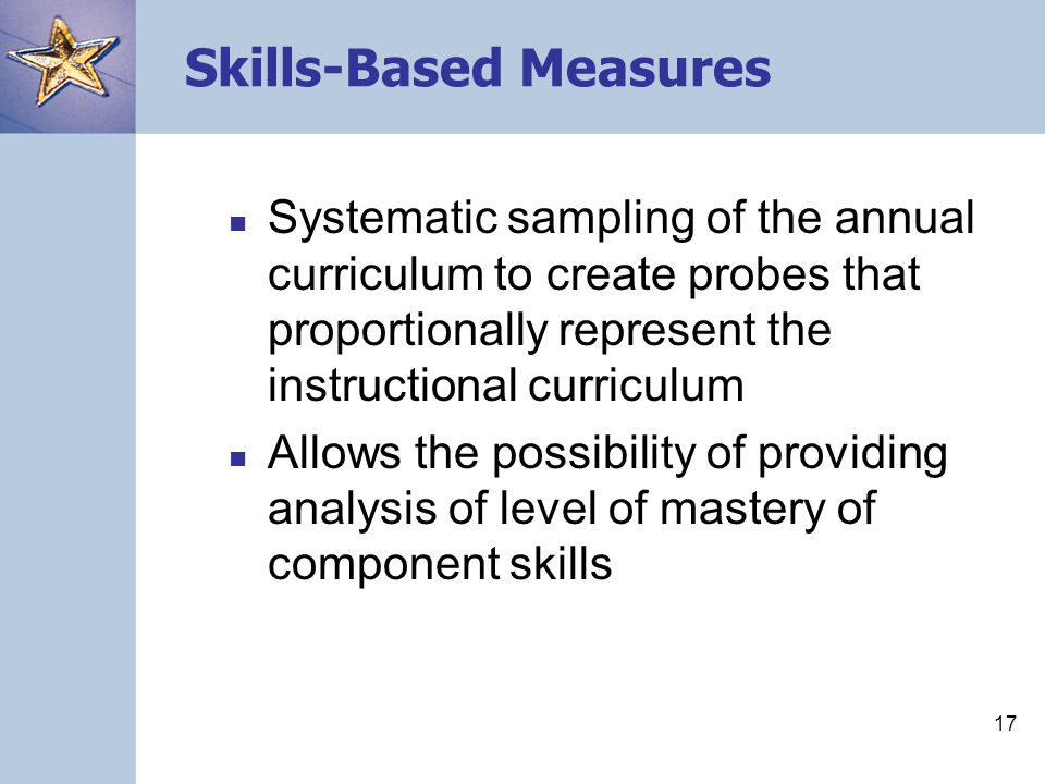 Skills-Based Measures