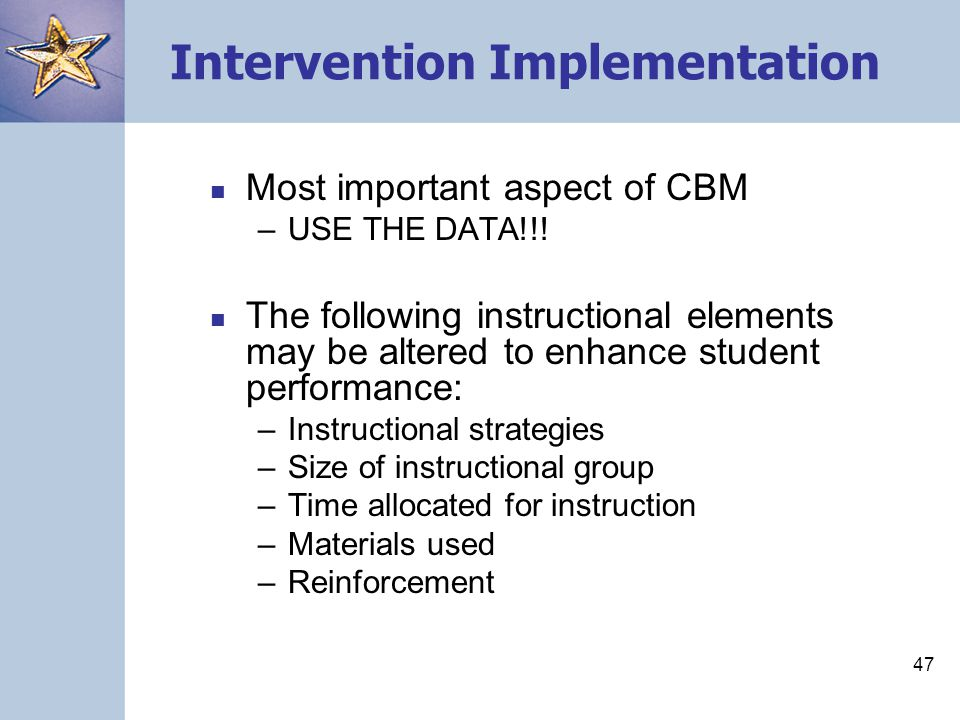 Intervention Implementation