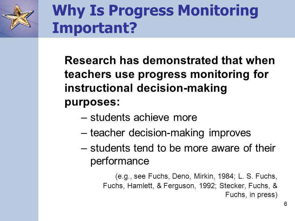 Why Is Progress Monitoring Important