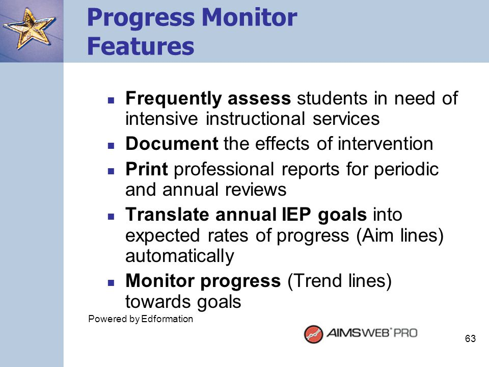 Progress Monitor Features